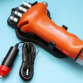 Многофункциональный аварийный молоток + фонарик + набор инструментов