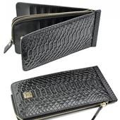 Невероятно стильный кошелёк! Кожа+Эко кожа !!! Отлично на подарок!