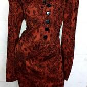 Новое! Платье приталенного кроя с кокетливым V-вырезом р. 52, цвет на выбор