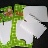 Набор шпателей 3 шт.для теста,декора и украшений выпечки.