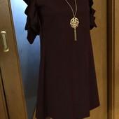 Нарядні ніжні плаття для дівчаток з цепочкою. Оригінальні рукавчики. Якість відмінна.Колір марсала.