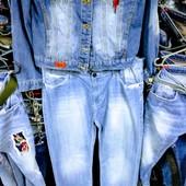 Новые турецкие джинсы большого размера, р.56, р. 38, 4XL, поб 58 см, пот 46 см, высокая талия