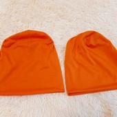 2 шт оранжевые шапки Family look уп -10%
