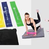 Фитнес резинки для фитнеса из 5 лент и чехла