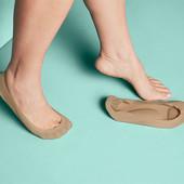 ☘ Лот 3 пары☘ Комфортные капроновые носки-невидимки с встроенной стелькой Tchibo (Германия), р.35-38