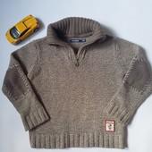 свитерок теплый, крупная вязка 6лет 114,смотрите замеры