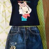 Лот футболка + юбка
