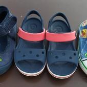 Босоножки Crocs C7, мокасины Mathercare 23 размер, тапочки Superfit 25 размер. Оригинал