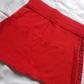 Яркая трикотажная юбка с широким эластичным поясом