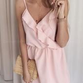 Распродажа! Летнее платье с воланами на груди, 42-44, 44-46 рр, цвет персик.