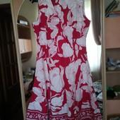 Лёгкое, не жаркое малиновое платье Mia moda. p. Xxl.