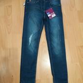 Лот 24!много лотов,собирайте)джинсы на девочку,стильные на рост 134