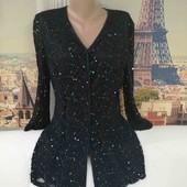 Шикарная блуза, с кружевом, windsmoor, размер L - XL.