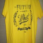 Новая мужская качественная футболка, р. L 44/46, желтая