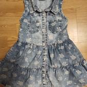 Платье из тонкой джинсовой ткани