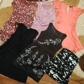 Пакет одежды: 5 летних платьев и туника на бюст, с-м (неполный л)