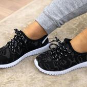 Невесомые текстильные кроссовки 36-40 р