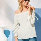 """Очаровательная блуза-""""Кармен"""" из чистого хлопка от Esmara Германия, указан нем 36, замеры!"""