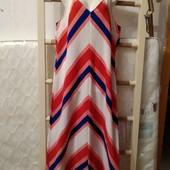 Яркое летнее платье Peacocks в пол, размер 12. Сток!