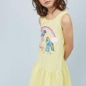 Платье Н&М 6-8 лет, желтое