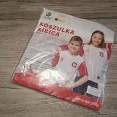 Польша! Оригинальная футболка сборной Польши, на подростка 158 см рост!