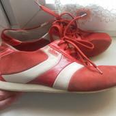 Кожаные туфли-кроссовки s.Oliver состояние осень хорошее