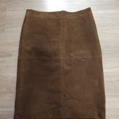 Фирменная новая красивая юбка из натуральной замши р.10-12