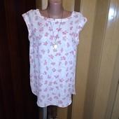 Шифоновая блузочка с удлиненной спинкой 14/42 размера.