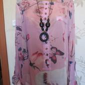 Шикарная блуза-туника на красивые формы,в новом состоянии