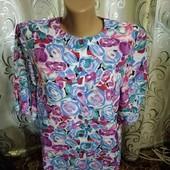 Шикарный легкий пиджак с цветочным принтом