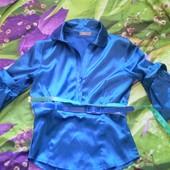 Блузка с поясом и рукавами буфами- тренд 2020
