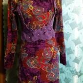 Дизайнерское платье с набивным кружевом