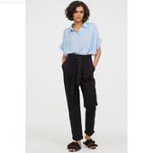 штаны с высокой посадкой и поясом