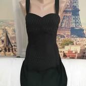 Летнее платье с широкими резинками на спинке, Divided, размер S - М.