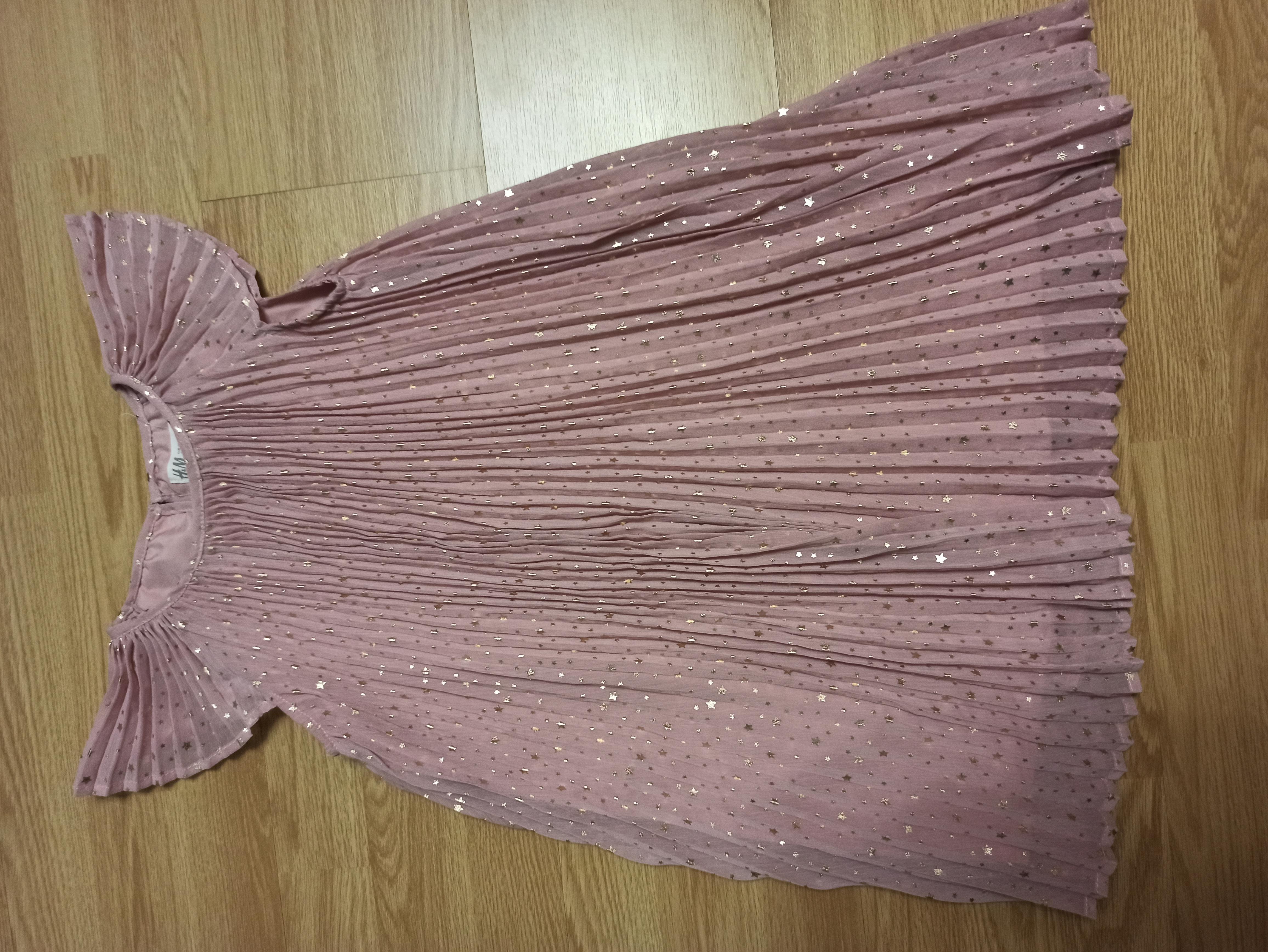 Платье нарядное с золотыми звездочками 6-7 лет.
