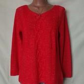 Яркий свитер с люрексом, Papaya,L/xl