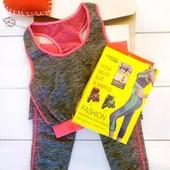 Спортивный костюм женский для фитнеса йоги Copper Fit M-XL