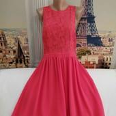 Шифоновое платье с кружевным верхом, Spotlight, размер L - XL.