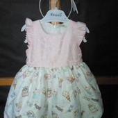Шикарное платье для принцессы с ободком