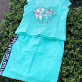 Последние размеры! Летние трикотажные костюмы для девочек, р.116.122