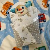 Конверт-одеяло для новорожденного + подарок