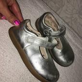 Кожаные туфельки M&S p.8 длина стельки 15,8 см