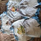 Костюм шорты Майка ( для девочек и мальчиков) размеры от 5 года до 3 лет
