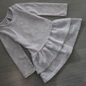Нежное ажурное платьице цвета сирени, 3-4-5лет