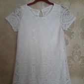 Фирменое ажурное платье , S