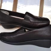 Натуральная кожа туфли лоферы Damart цена - 45%