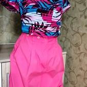 Собираем лоты!! Комплект шорты с высокой посадкой +блуза, размер 10/38