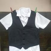 Лот 2 шт./ безрукавка нарядная + Рубашка