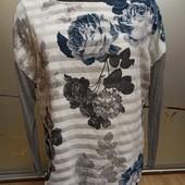 Шелковая блузка 2 в 1 размер 18.
