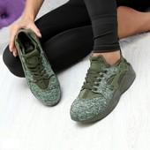 Кроссовки в стиле Nike Air Huarache Militari. Унисекс